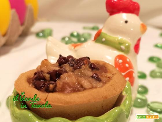 Tartellette vegan e gluten free con pere e cioccolato la ricetta