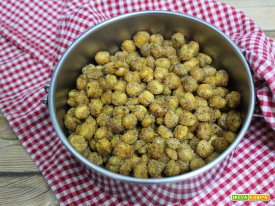 Ceci speziati al forno – snack vegano
