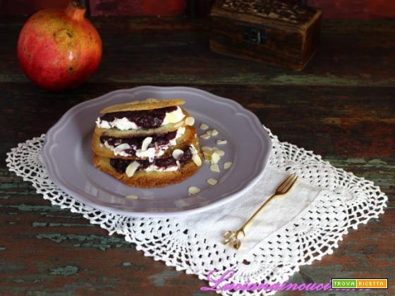 Cialde ricetta con ripieno al melograno