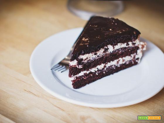 Torta al cioccolato e alla panna