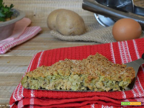 Polpettone genovese di fagiolini e patate pronto in poche mosse