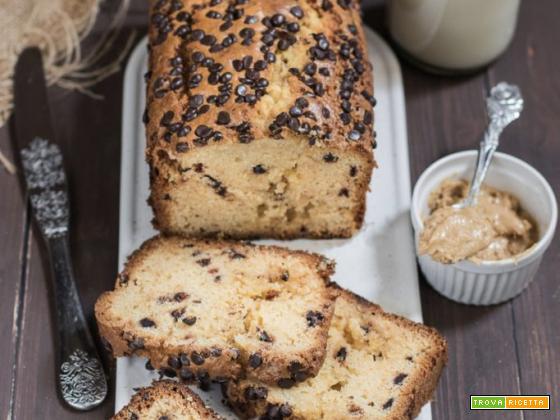Plumcake al burro di arachidi e cioccolato