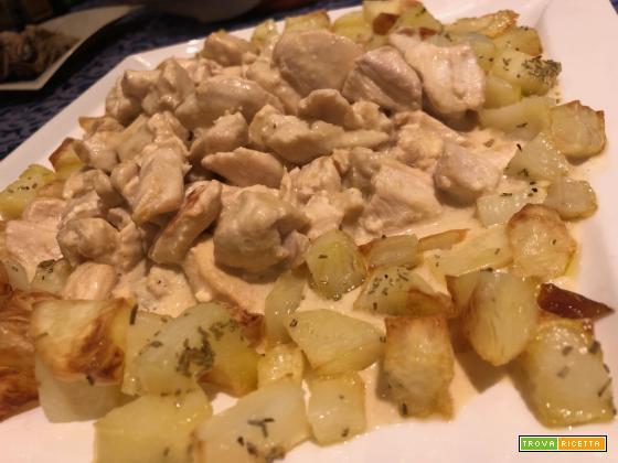 Senza Bimby, Pollo con salsa magica al latte di cocco e patate al forno