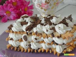 Torta millefoglie veloce panna e cioccolato