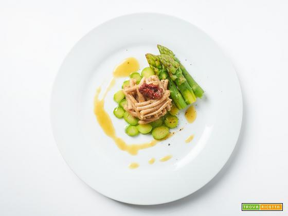 cavatelli agli asparagi e mango