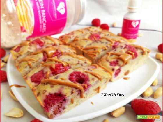 Torta Barrette Lamponi e Arachidi Low Carb e Proteiche