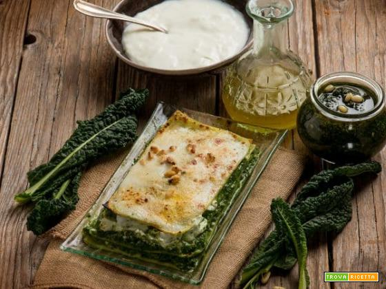 Lasagne al pesto di cavolo nero: un'alternativa vegetariana