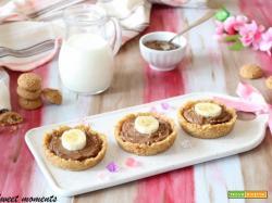 Crostatine nutella e philadelphia senza cottura
