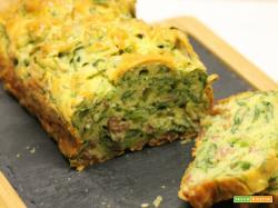 Plum cake salato agli spinaci