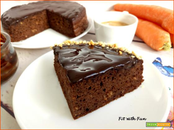 Torta Soffice Carote Arachidi e Carrube Senza Glutine