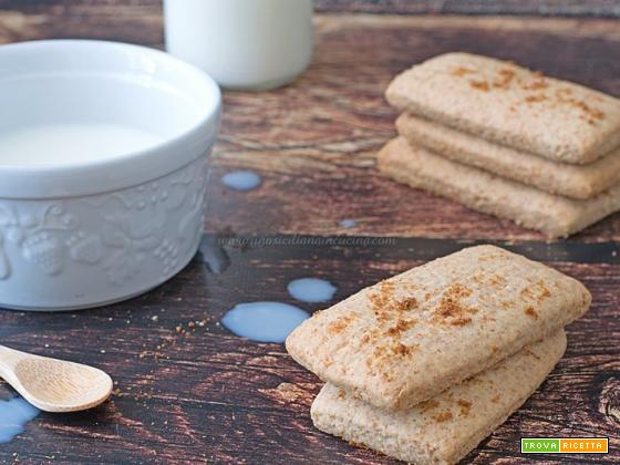Biscotti integrali inzupposi siciliani