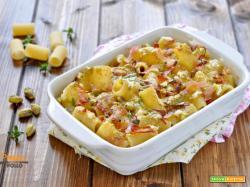Pasta al forno ai pistacchi e mascarpone
