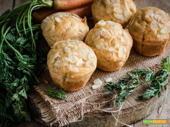 Muffin alle carote e mandorle – senza burro