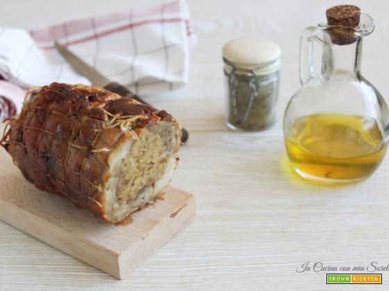 Coniglio arrosto ripieno – secondo al forno