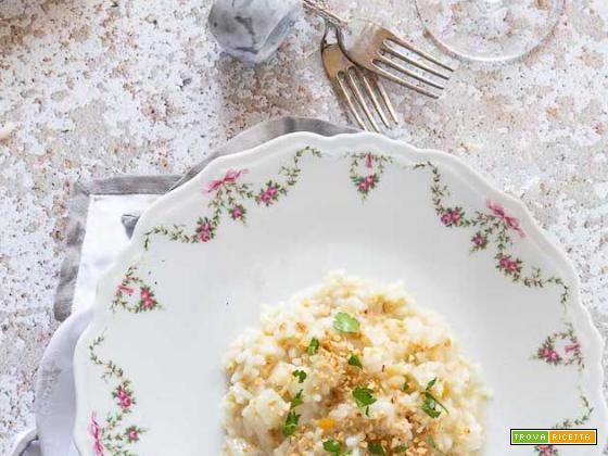 Risotto rapa bianca e nocciole tostate