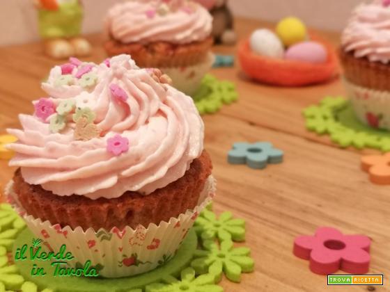 Cupcakes di Pasqua alle fragole la ricetta