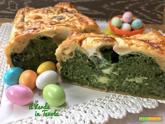 Plumcake di sfoglia con spinaci, ricotta, mascarpone e uova