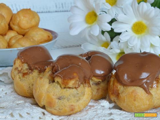 Bignè al cioccolato ricetta facile