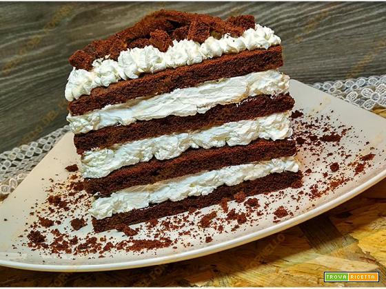 Torta facile black & white