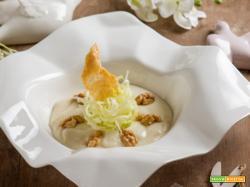 Crema cotta al parmigiano con insalata di sedano e noci: che la Pasqua abbia inizio!