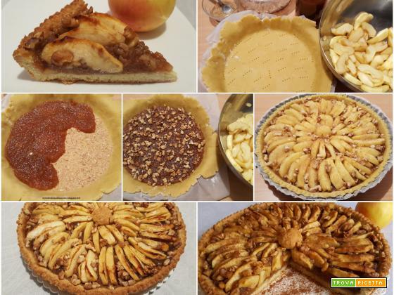 Crostata con mele e noci