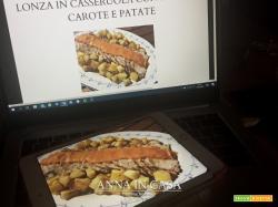 Lonza  in casseruola con salsa di carote e patate