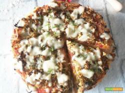 Pizza con farina di riso e patate