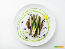 ermes agli asparagi ed erbe di campo