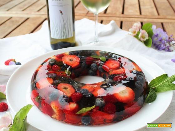 Aspic con Gavi e frutti di bosco