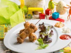 A Pasqua: spiedini di agnello e patate in tempura croccante!
