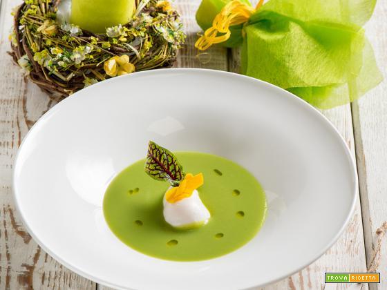 Uovo poché su crema di piselli: una vera delizia pasquale!