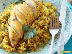 Pollo alla Curcuma e riso speziato