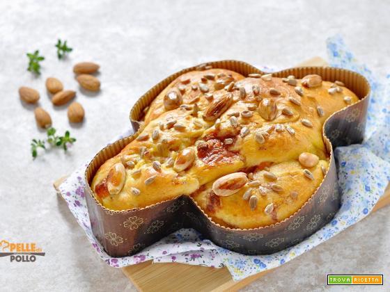Colomba salata rustica con salume e formaggio