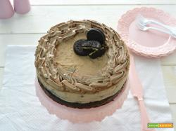 Brownies oreo cheesecake al caramello
