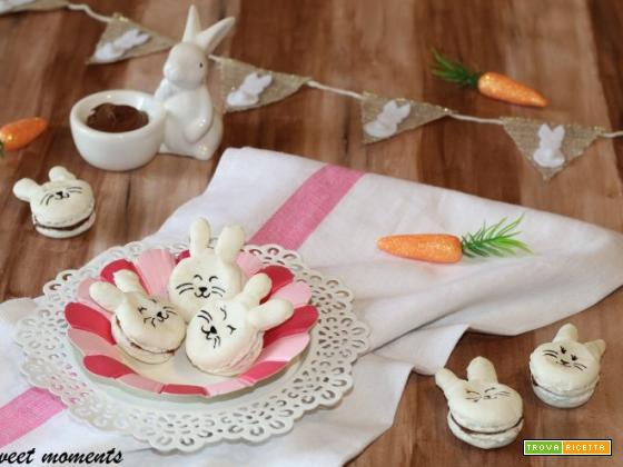 Bunny Macarons ripieni di nutella