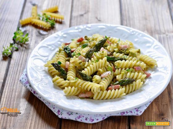 Pasta agli asparagi e pancetta