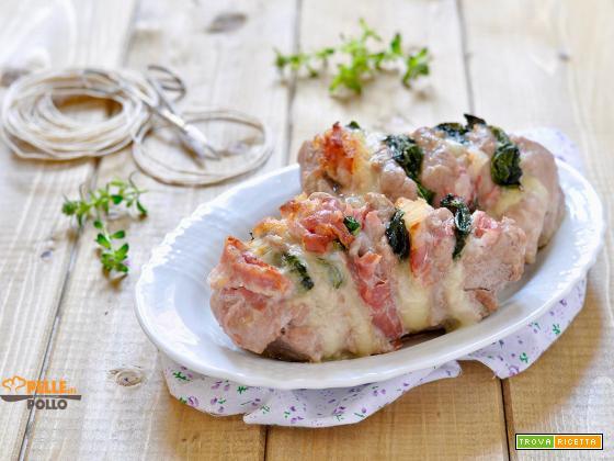 Filetto di maiale farcito con pancetta e provola