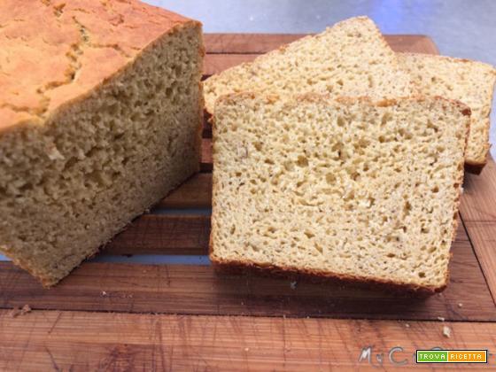 Pane proteico di sola farina di ceci impastato con il Companion Moulinex