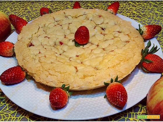 Crostata di mele e marmellata di fragole | senza glutine