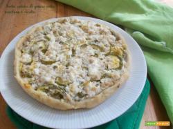 Torta salata di grano cotto zucchine e ricotta