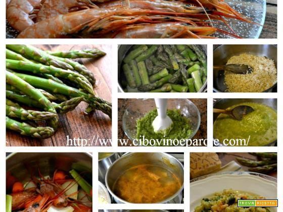 Risotto, asparagi e gamberi