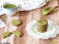 Biscotti al tè matcha