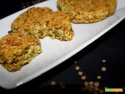 Burger di miglio, lenticchie e broccoli