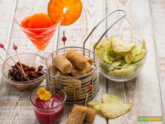 Crocchette con salsa speziata di barbabietola: lunga vita all'aperitivo!