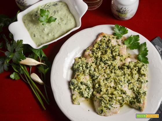 Fettine di pollo con salsa verde