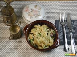 Pennette con funghi gorgonzola e rucola