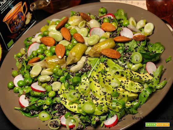 Quinoa nera con le verdure di primavera