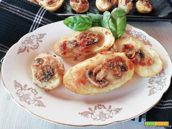 Barchette di patate farcite