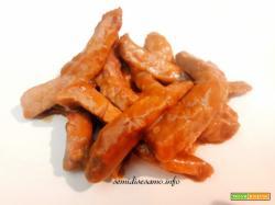 Straccetti di carne con salsa di soia