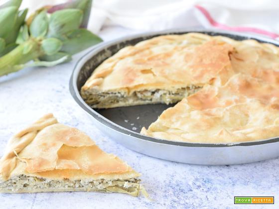Torta di Carciofi ligure (torta de articiocche)